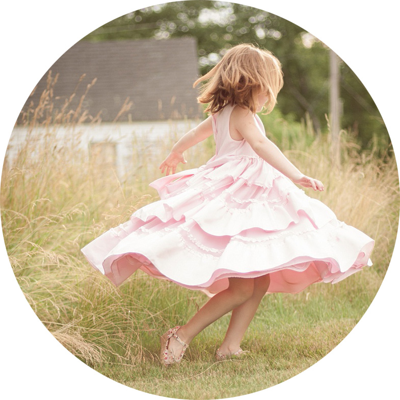 Pink Dress Twirl