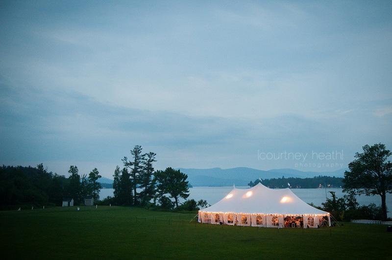 Brewster Academy wedding evening tent