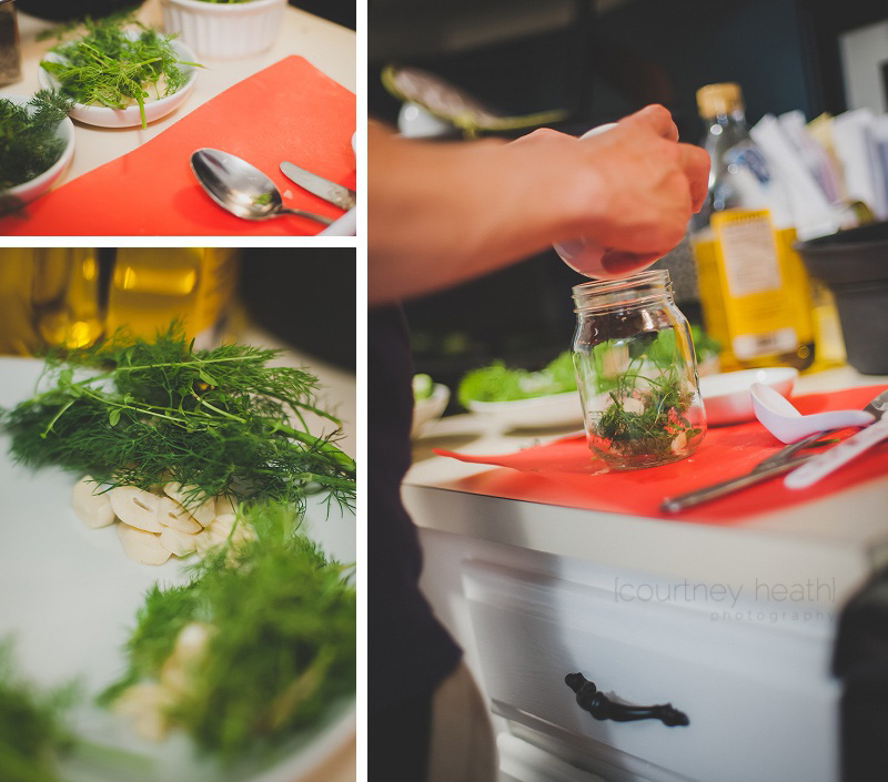 Dill and garlic pickle ingredients