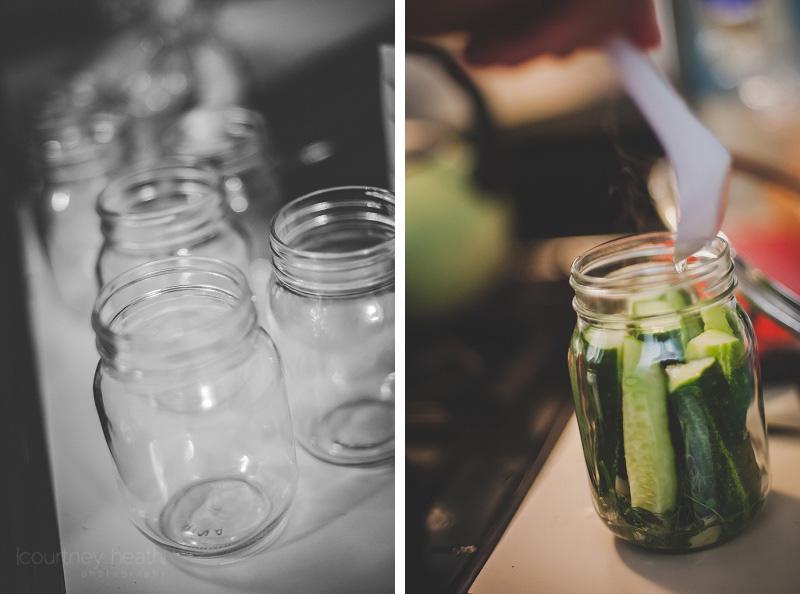 Mason jars and making pickles