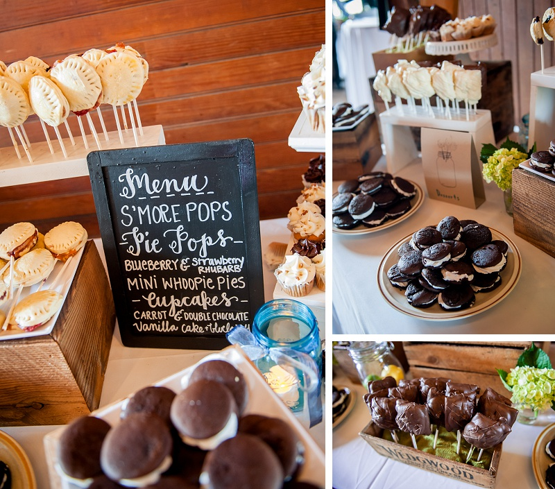 Beautiful wedding dessert table at Wells Reserve