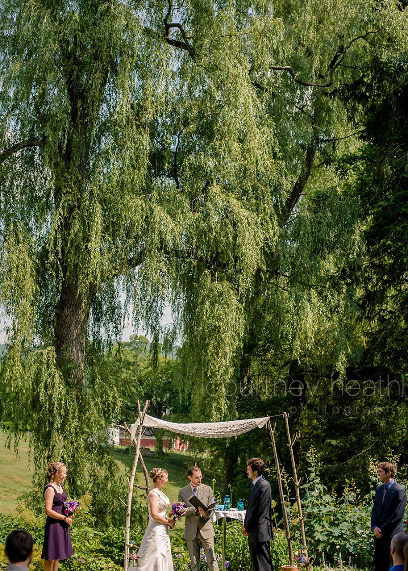 Wedding Ceremony Inn at Valley Farms Walpole New Hampshire
