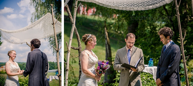 Bride and Groom Wedding Ceremony Walpole New Hampshire