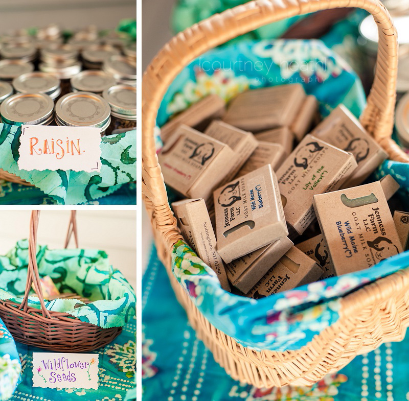 Walpole New Hampshire Wedding Favors Soap Granola in a Mason Jar Wildflower Seeds