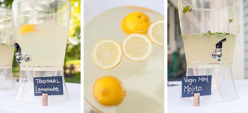 Traditional Lemonade and Virgin Mint Mojito Wedding Reception Inn at Valley Farms