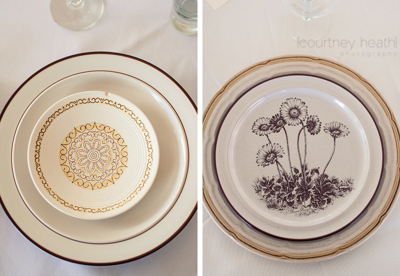 Wedding Reception Vintage Plates