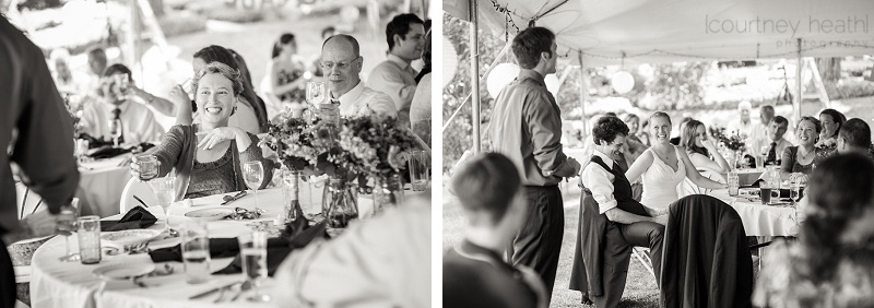 Wedding speeches black and white