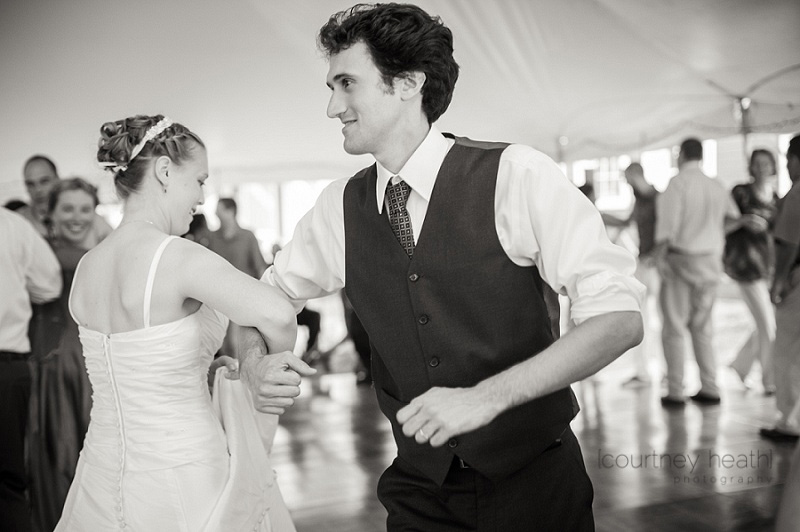 Bride and Groom Contra Dancing Black and White