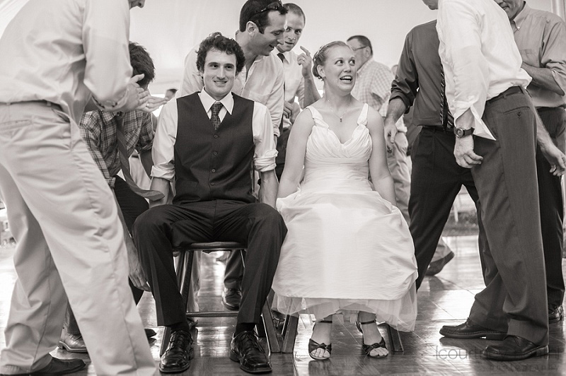Bride and Groom Hora Dance Black and White