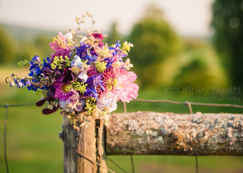 Beautiful Country Bouquet on a fence in evening light Walpole New Hampshire