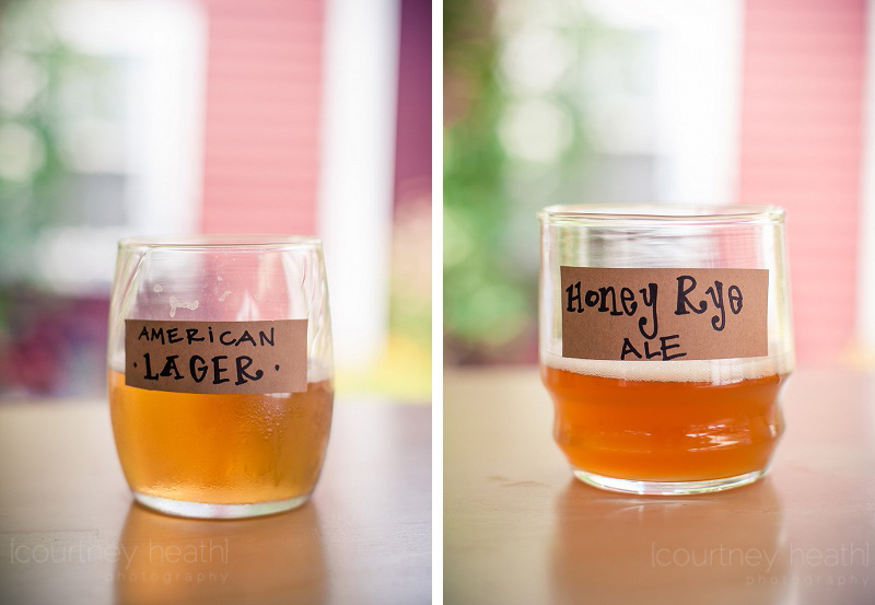 American Lager and Honey Rye Ale Wedding Beer