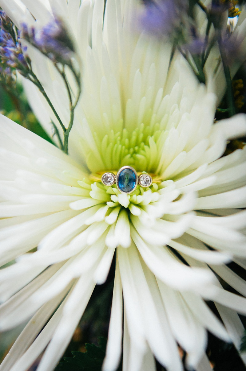Beautiful blue stone engagement ring