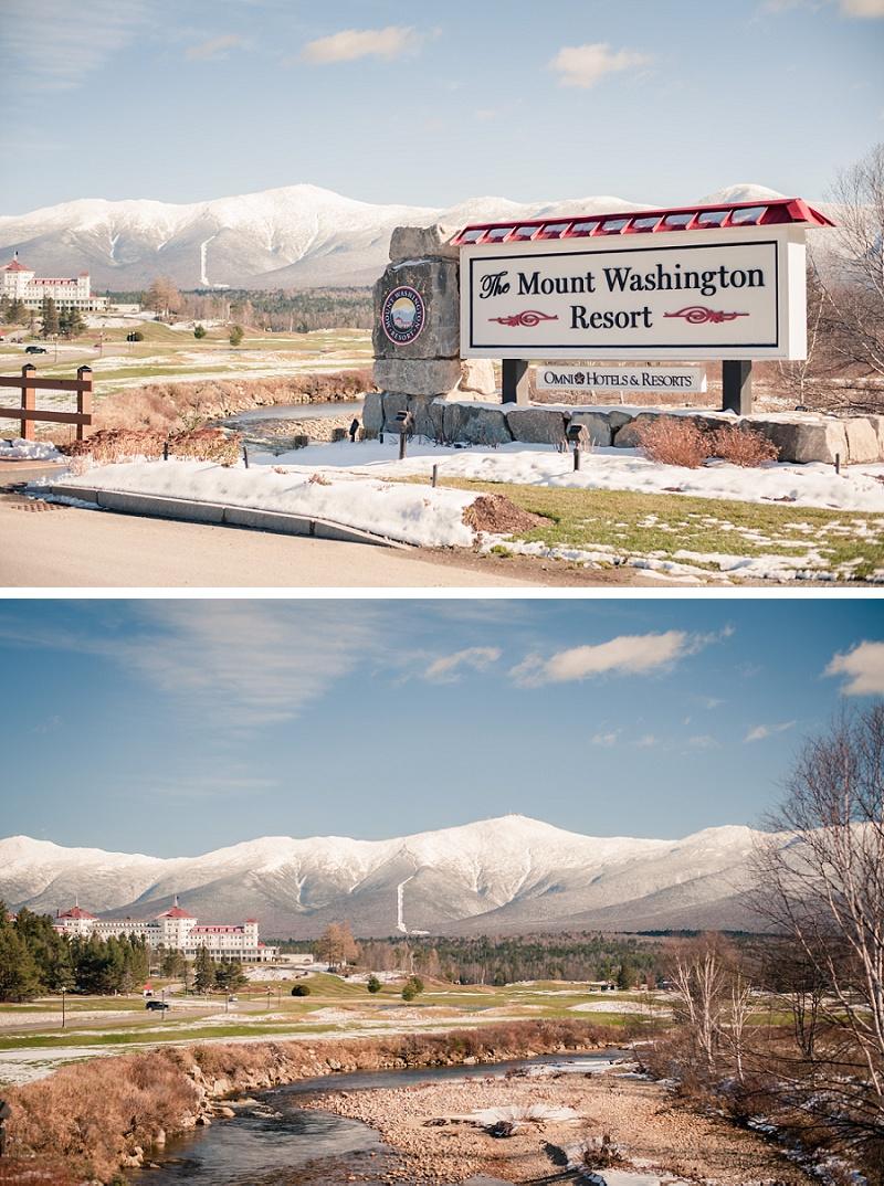 Winter view of Mount Washington Resort
