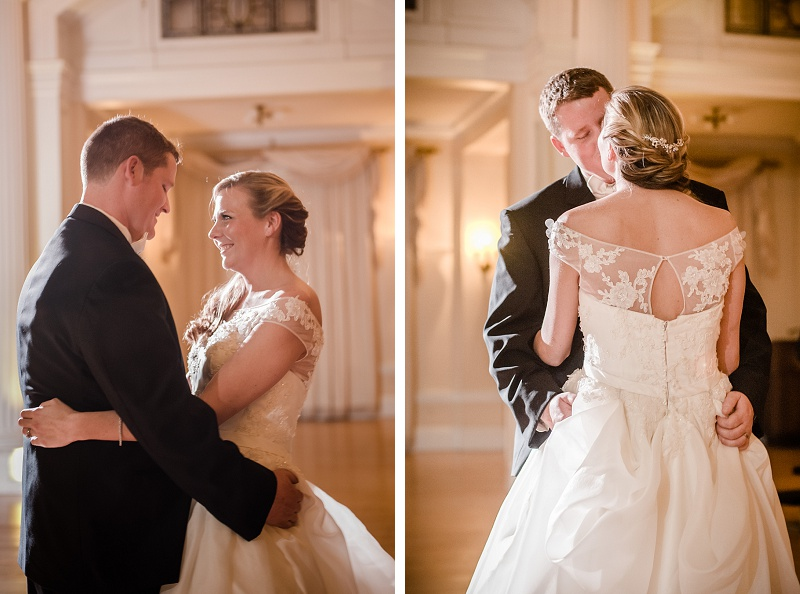 Bride and groom first dance Mount Washington Hotel Ballroom