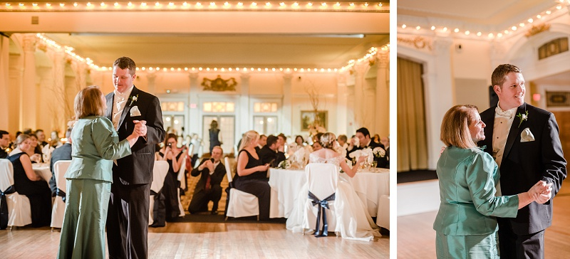 Mother Son Dance Wedding Mount Washington Hotel Ballroom