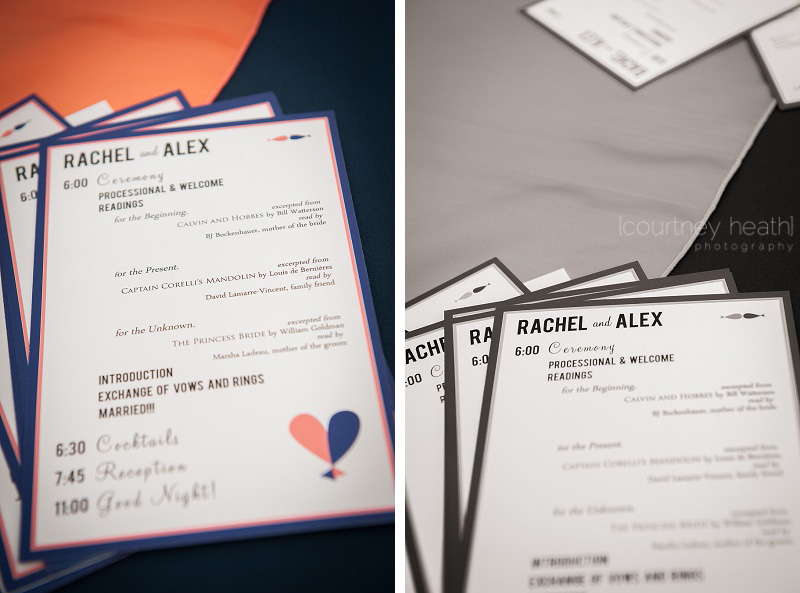 Brewster Academy wedding program