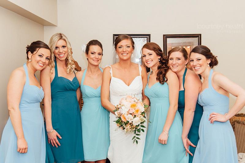 Candid Bride and Bridesmaids