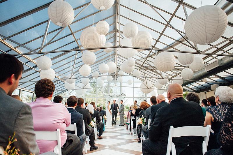 Farmington Gardens Greenhouse Wedding Ceremony