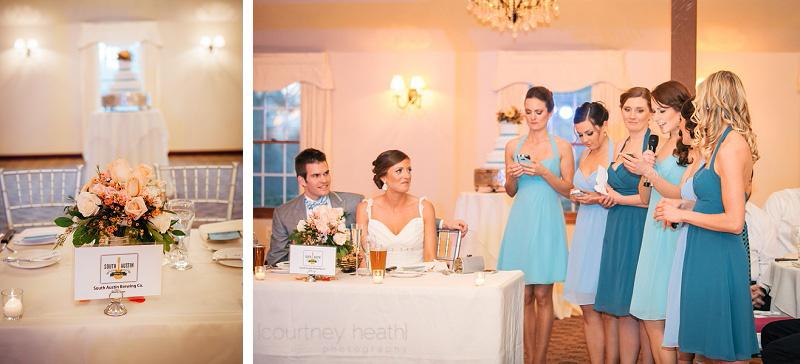 Bridesmaid speech a Farmington Gardens wedding reception
