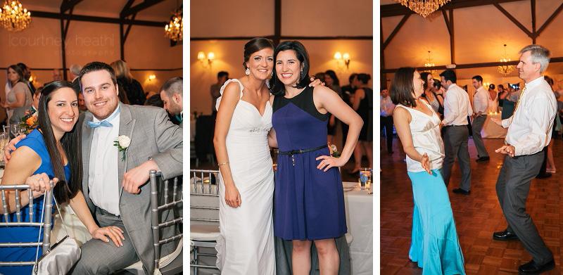 Candid wedding reception guests Farmington Gardens