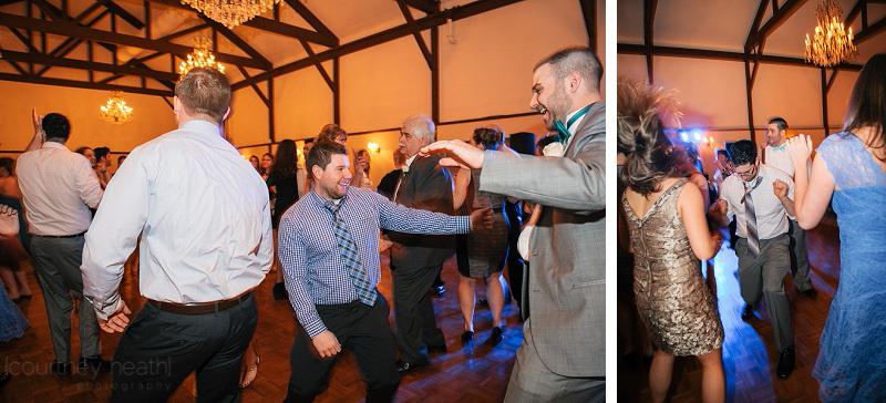 Goofy wedding dancing