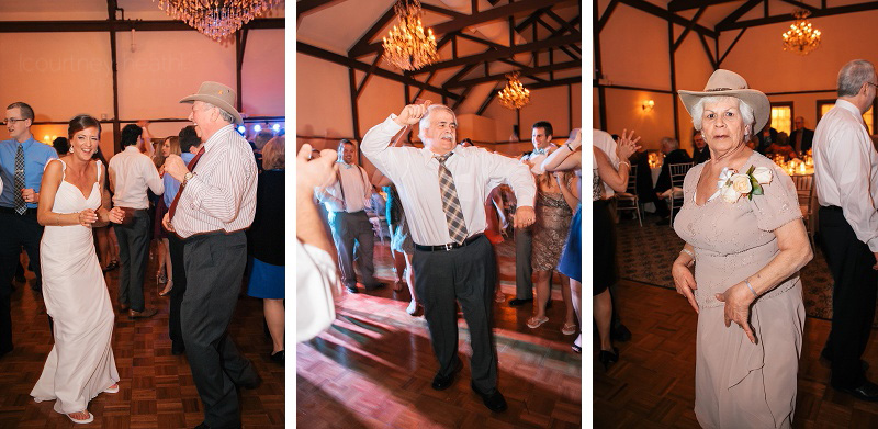 Candid wedding dancing