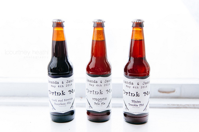 home brewed beer wedding favor