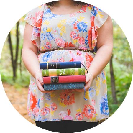 Senior girl holding books