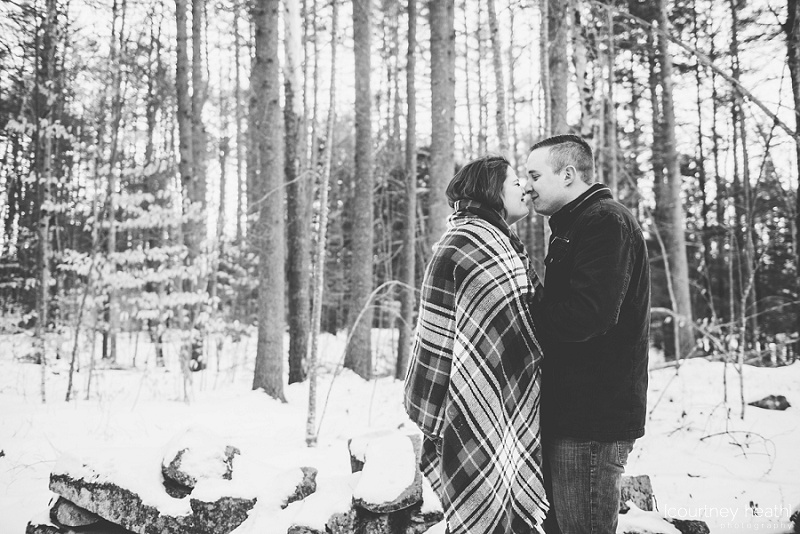 black and white image couple nose to nose