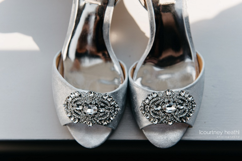 Badgley Mischka embellished toe pump wedding