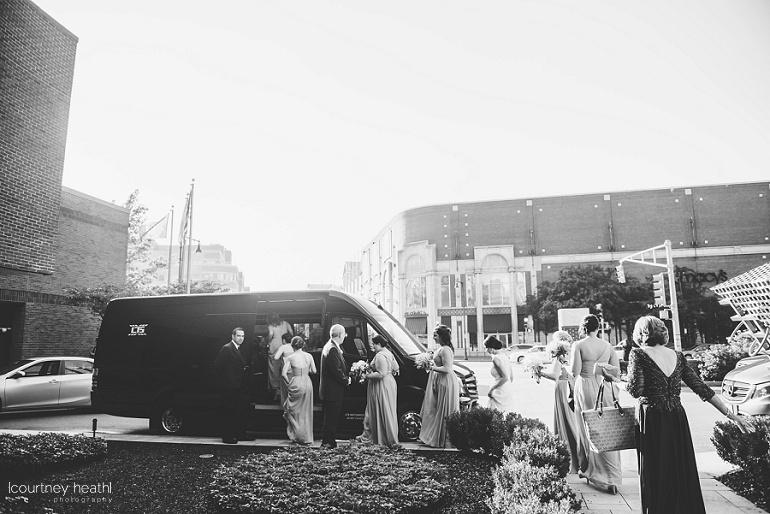 Bridal party leaves Royal Sonesta Boston