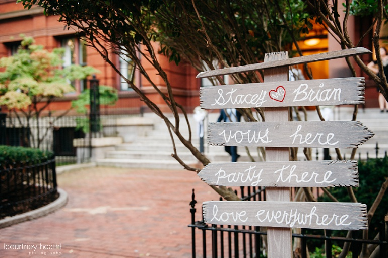 Wooden diy wedding ceremony sign