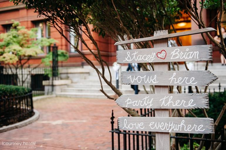 Wooden diy wedding ceremony sign
