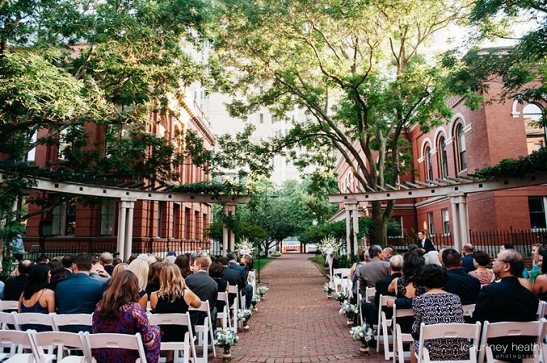 Courtyard Cambridge Multicultural Arts Center wedding