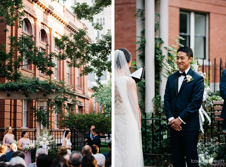 Wedding ceremony at Cambridge Multicultural Arts Center
