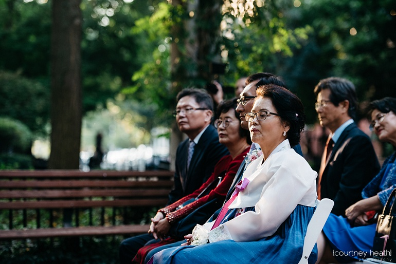 Groom's family during ceremony at Cambridge Multicultural Arts Center