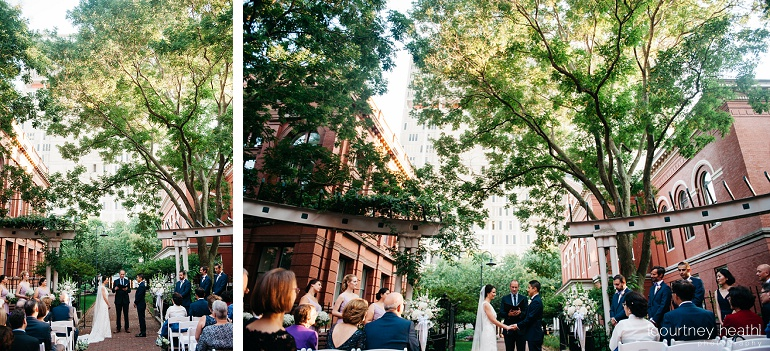 Cambridge Multicultural Arts Center courtyard wedding