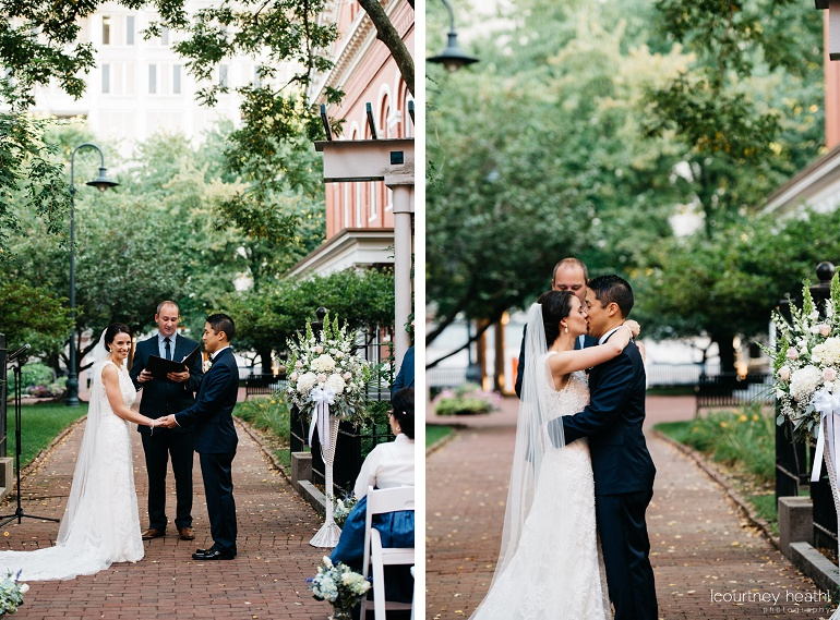 First kiss wedding at Cambridge Multicultural Arts Center