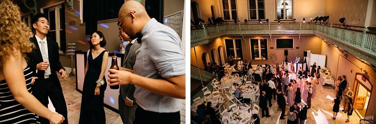 Wedding guests dancing Cambridge Multicultural Arts Center Boston